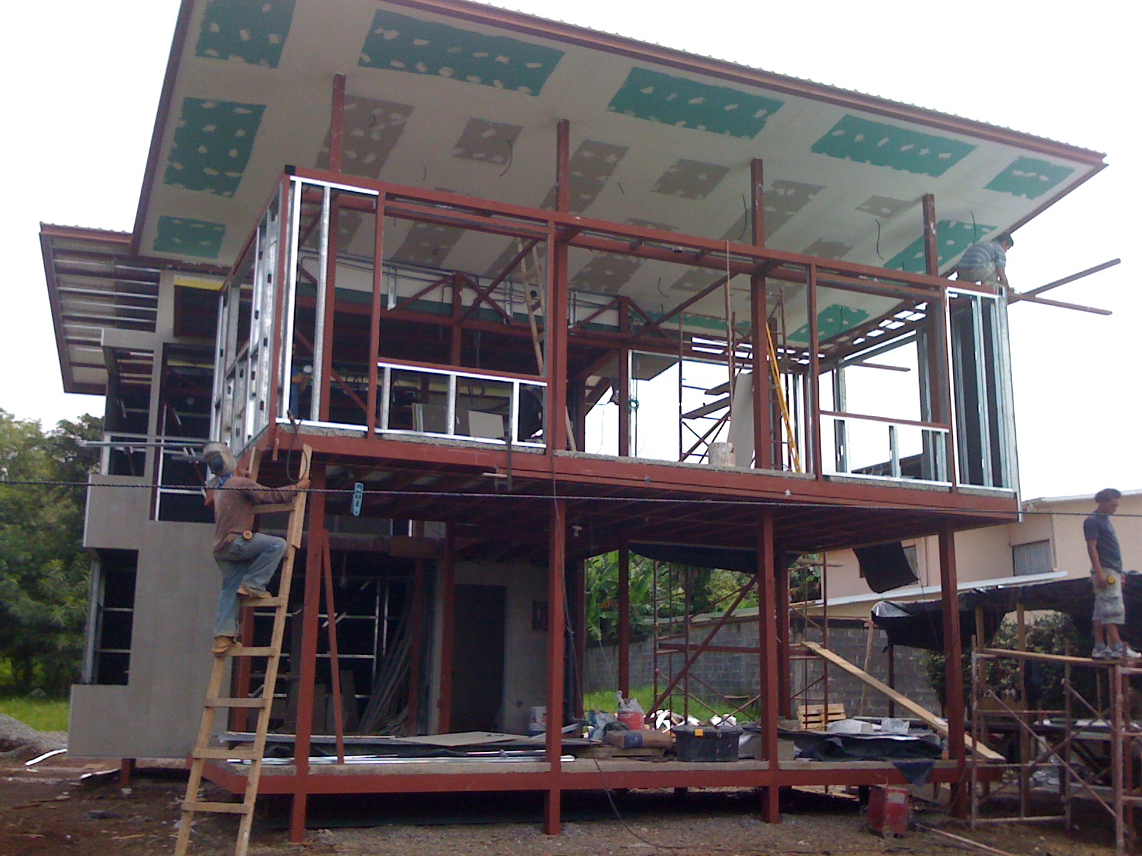 All about steel frame building in costa rica dott for Tropical architecture house design