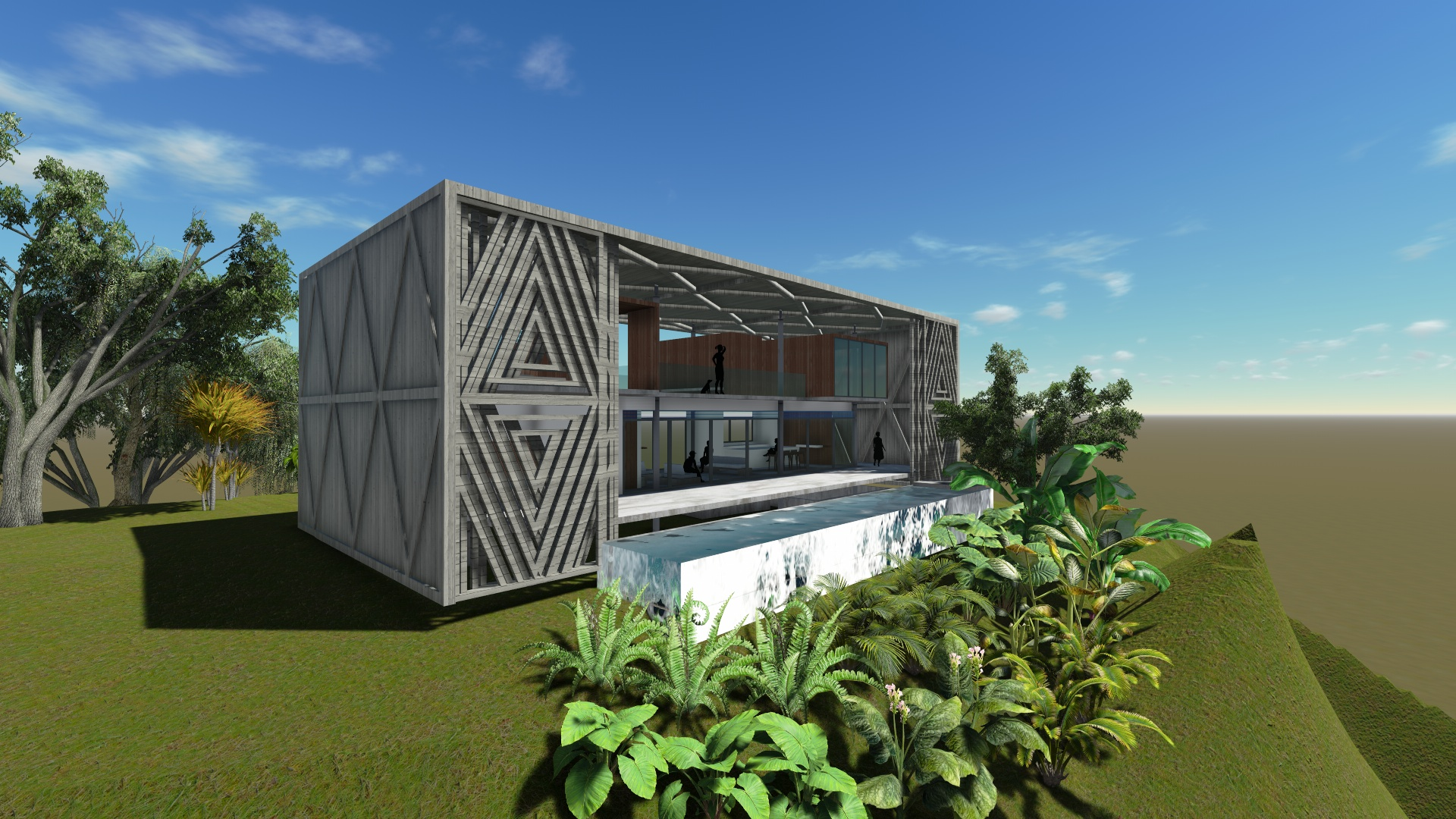 Finding the perfect shade angle for a tropical modern for Find the perfect house