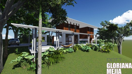 tropical modern architect in Dominical